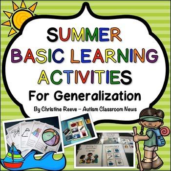 summer beginning learner skills generalization activities autism