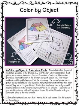 Summer Beginning Learner Skills Generalization Activities: Autism, Special Ed.