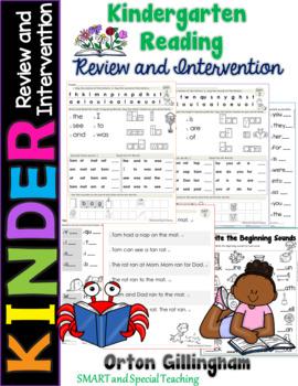 Orton-Gillingham Summer Kindergarten to First Grade Intervention Pack