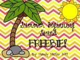 Summer Beginning Sound Freebie