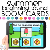 Summer Beginning Sounds Boom™ Cards - Distance Learning fo