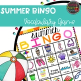Summer Vocabulary Bingo