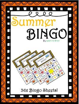 Summer Bingo! (36 Bingo Sheets!)