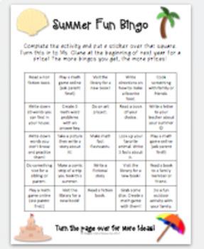 Summer Bingo Activity