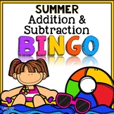 Summer Bingo {Addition and Subtraction within 10}