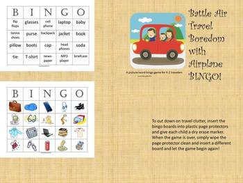 Summer Bingo {Airplane, City, Outdoor, and Long Distance}