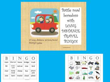 Summer Bingo Bundle: Airplane, City, Outdoor, and Long Distance