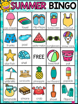 Summer Bingo (End of the Year)