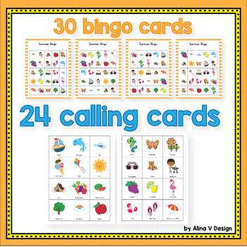Summer Bingo Game - Summer Activities for Kindergarten