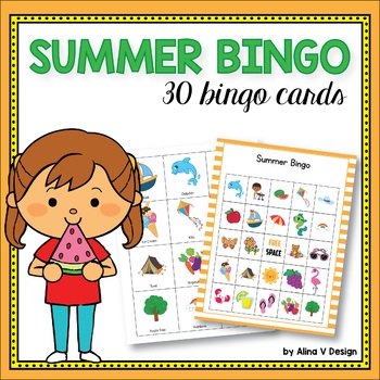 Summer Bingo Game Summer Activities For Kindergarten Tpt