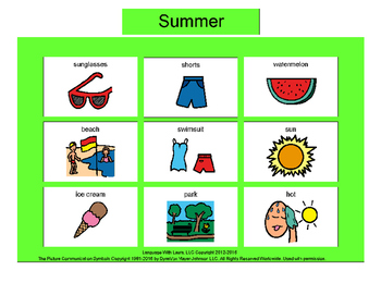 Summer Bingo! Multiple Boards [speech therapy and autism]
