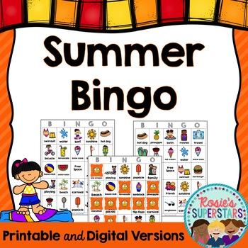 Summer Bingo: Printable and Digital Versions!
