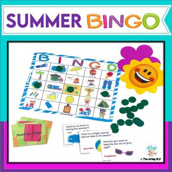 "Summer Bingo (""Wh"" Questions)"