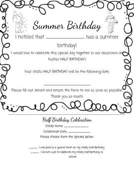 Summer Birthday Note