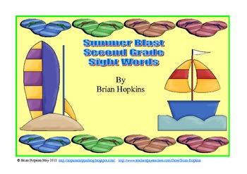 Summer Blast 2nd Grade Sight Words Strategy Game