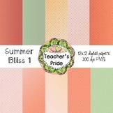 Summer Bliss Digital Papers 12x12 PNG {BUNDLED SET}