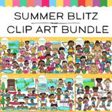 Summer Blitz Kids Clip Art Bundle