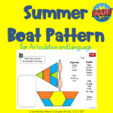 Summer Boat Pattern for Articulation & Language: BOOM Edition