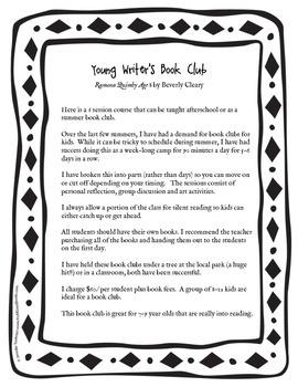 Summer Book Club - Ramona Quimby Age 8
