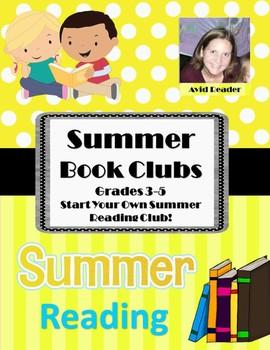 Summer Book Clubs Grades 3-5