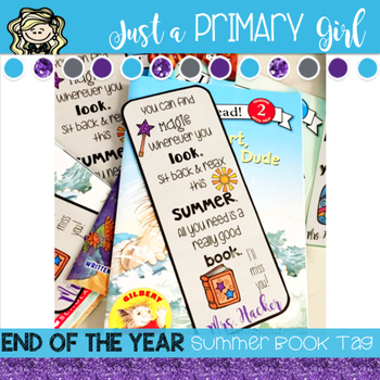 Summer Book Gift Tag
