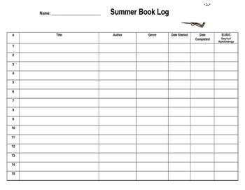 Summer Book Log