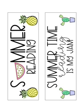 Summer Book Marks