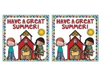 Summer Bookmarks and Gift Bag Labels