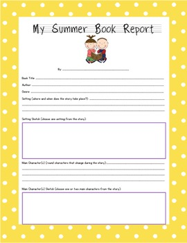 Summer Book Report