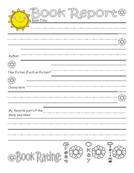Summer Book Report Worksheet : LINED PAPER