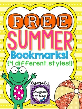 Summer Bookmarks (Free)