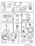 Summer Bookmarks to Color