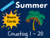 Summer Boom Cards - Counting 1 to 20 (Distance Learning, Beach)