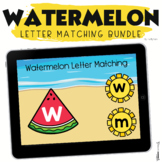 Summer Boom Cards Watermelon Letter Matching Uppercase and