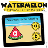 Summer Boom Cards Watermelon Lowercase Letter Matching