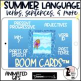 Summer Boom Cards™ in GIFS Verbs, Present Progressive, Parts of Speech, Language
