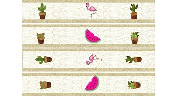Flamingo, Cactus and Watermelon Display borders - Brights