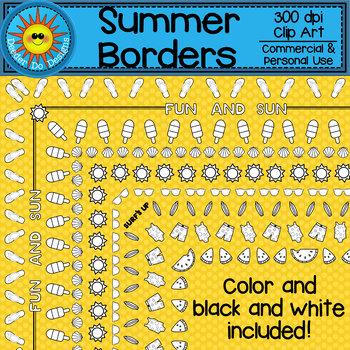 Summer Borders Clip Art