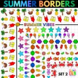 Summer Borders Clipart Set 2