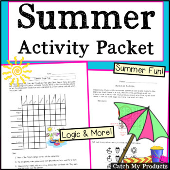 Summer Packet / Summer Activities and Logic Puzzles