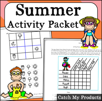 Summer Activities Printable Worksheets or Google Docs.