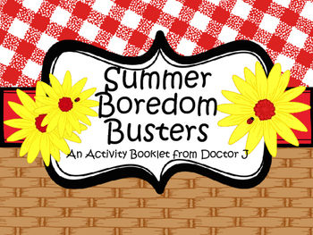 Summer Boredom Busters Activity Booklet for End-of-the-Year Student Gifts