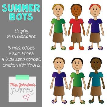 Summer Boys Clipart