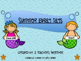 Summer Brag Tags for Parents