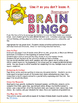 Summer Brain Bingo - Free Summer Learning Game