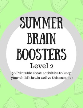 Summer Brain Boosters Activity Pack- Level 2 (2nd-3rd Grade)