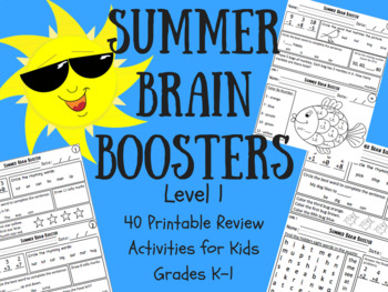 Summer Brain Boosters: Review Packet Level 1 (Grades K-1)