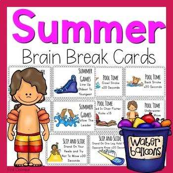Summer Brain Break Cards