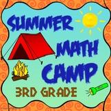 Summer Break 3rd Grade Math Summer Packet for Review of 3rd Grade Math Standards