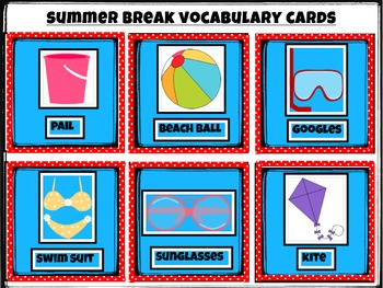 Summer Break Bingo Cards